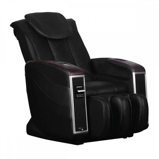 side view of black color Apex V1 Vending massage chair