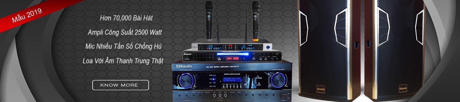 trọn bộ dàn karaoke nhãn hiệu SSKaudio