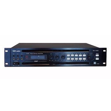 black and slim design SSKaudio MA-3500 mixing amplifier