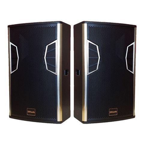 1 pair of LSX-12 karaoke speakers, 12 inch woofer in black color