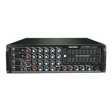 front of Singtronic KA-550EQ mixing amplifier