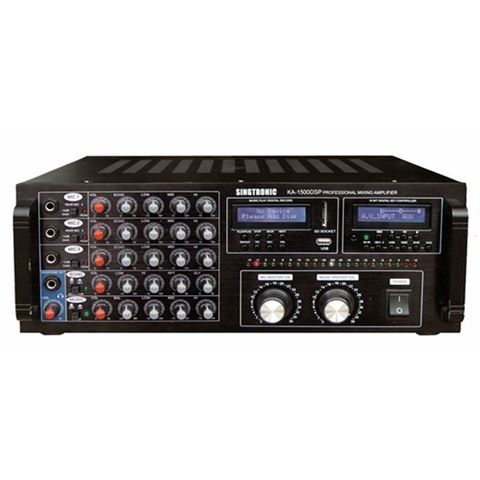 Singtronic KA-1500DSP 2000 Watt Digital Mixing Amplifier (Front View)