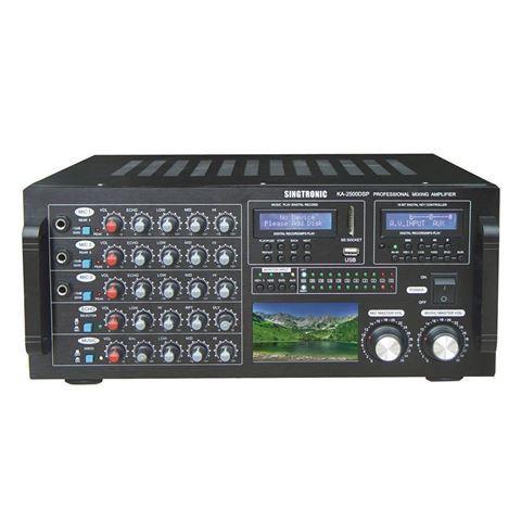 Singtronic KA-2500DSP 2600 Watt Console Digital Mixing Amplifier (Front View)