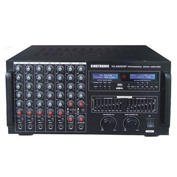 black color Singtronic KA-4000DSP Digital Console Mixing Amplifier