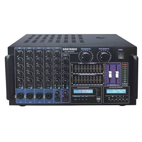 Front View Of Singtronic KA-4500DSP Digital Console Mixing Amplifier