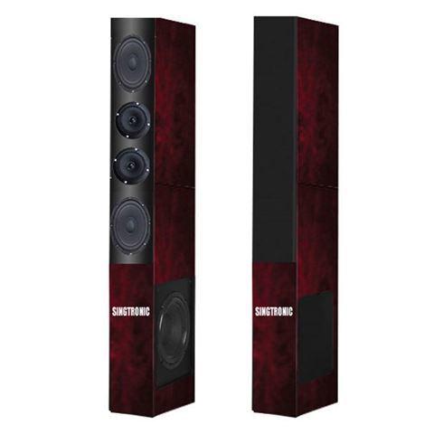 1 pair of cherry wood color Singtronic KS-1000DW karaoke speaker