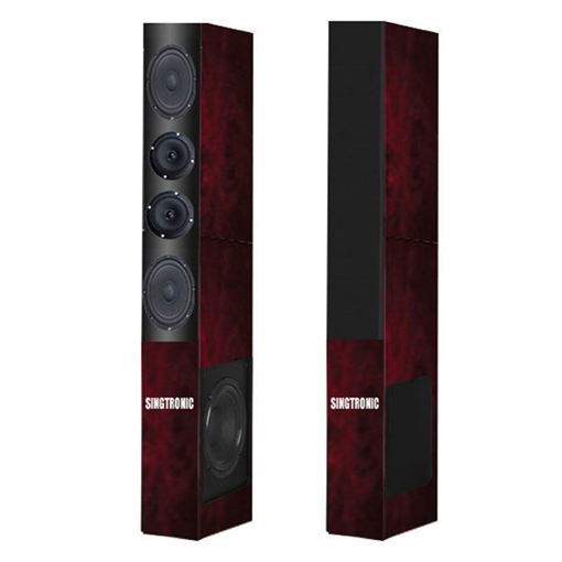 1 pair of cherry wood color Singtronic KS-1000DW karaoke speaker