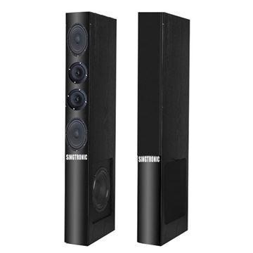 pair of black super slim Singtronic KS-1500DW karaoke speaker