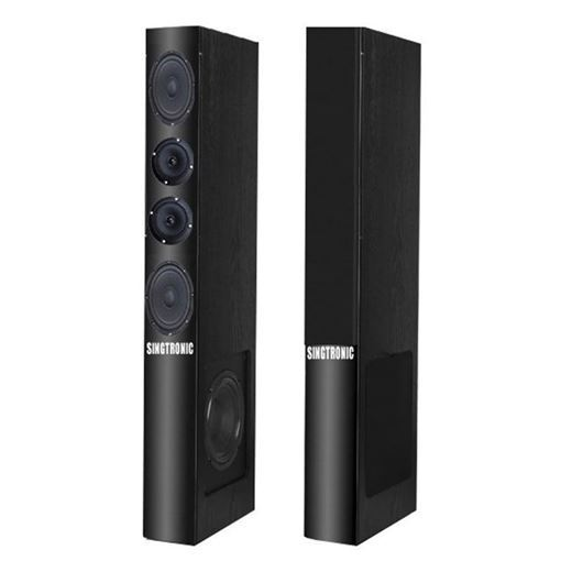 pair of black super slim Singtronic KS-1500DW karaoke speaker