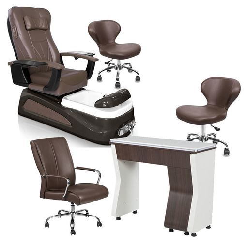 PSD100 Pedicure Chair Package Walnut Color