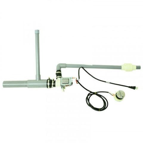 Lexor drain kit includes drain pump, pvc pipes, check valves and wire