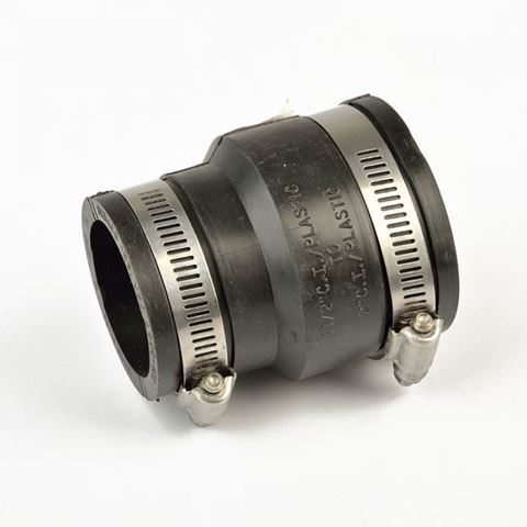 """2""""-1.5"""" spa vented rubber coupling"""