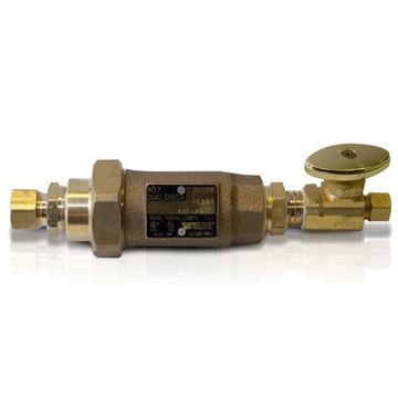ANS 3/8 x 1/2 Dual Check Valve & Backflow Preventer