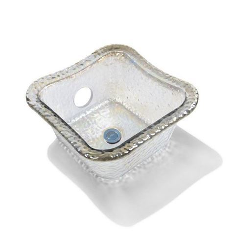 ANS Square Glass Bowl Crystal Reflection