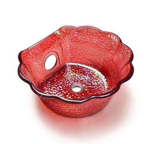 ANS Scallop Bowl Ruby Color
