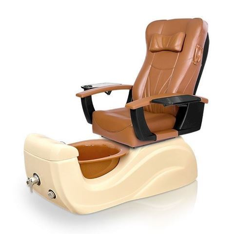 Brisa Pedicure Chair In Cappuccino Color