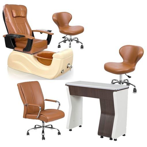 Brisa Pedicure Chair Package In Cappuccino