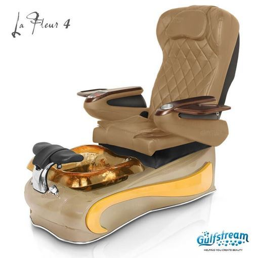 gulfstream La Fleur 4 in cappuccino base, amber bowl , yellow insert and 9660 curry