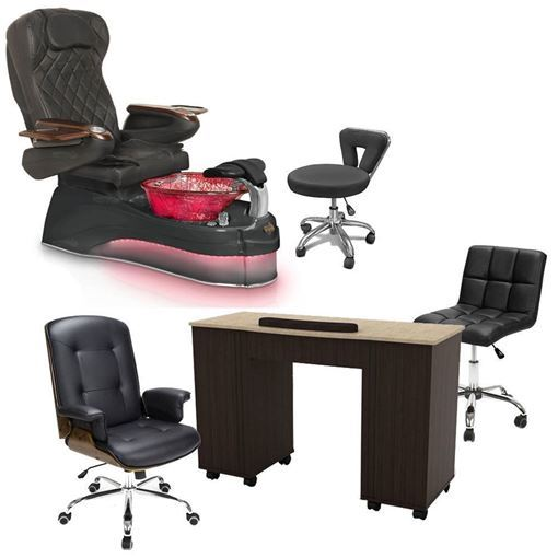 ampro pedicure chair package 9660 black