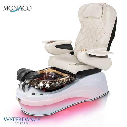 Gulfstream Monaco pedicure chair in 9660 white