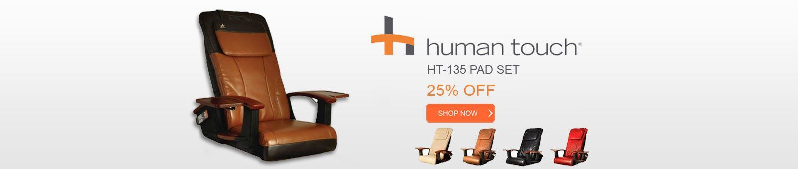 Human Touch HT-135 pad set, 25% off