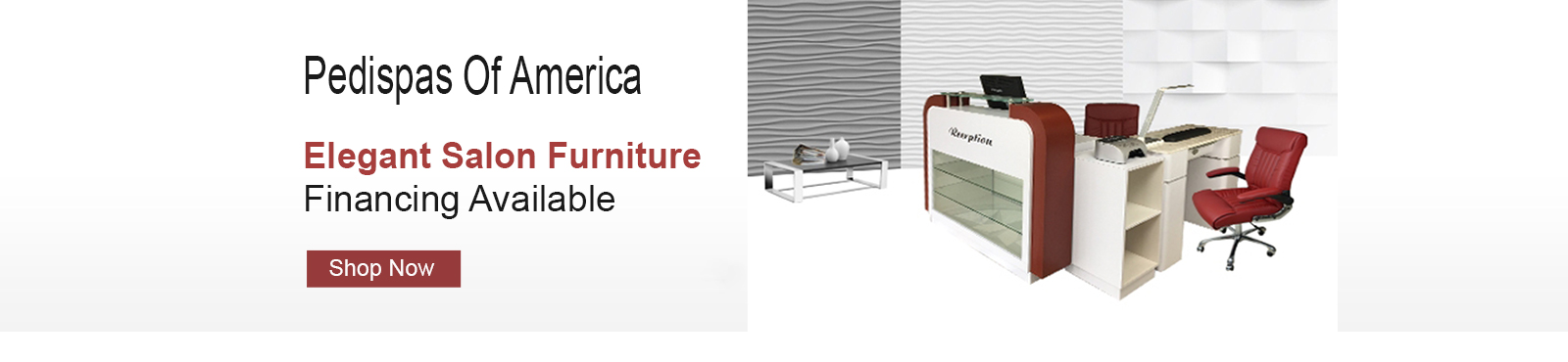 Pedispa Of America salon furniture with financing program