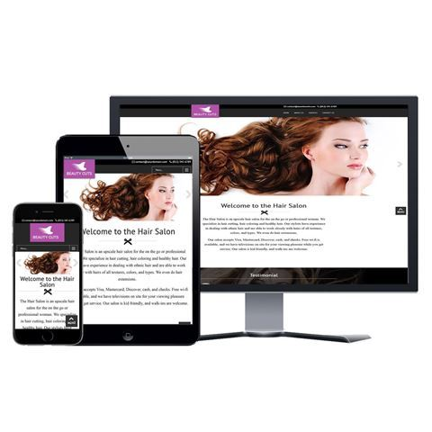 Picture of Hair Salon Website - Design #102