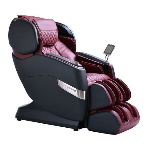 JPMedics Kumo massage chair in graphic stone & red