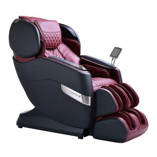 JPMedics Kumo massage chair in graphic stone & red