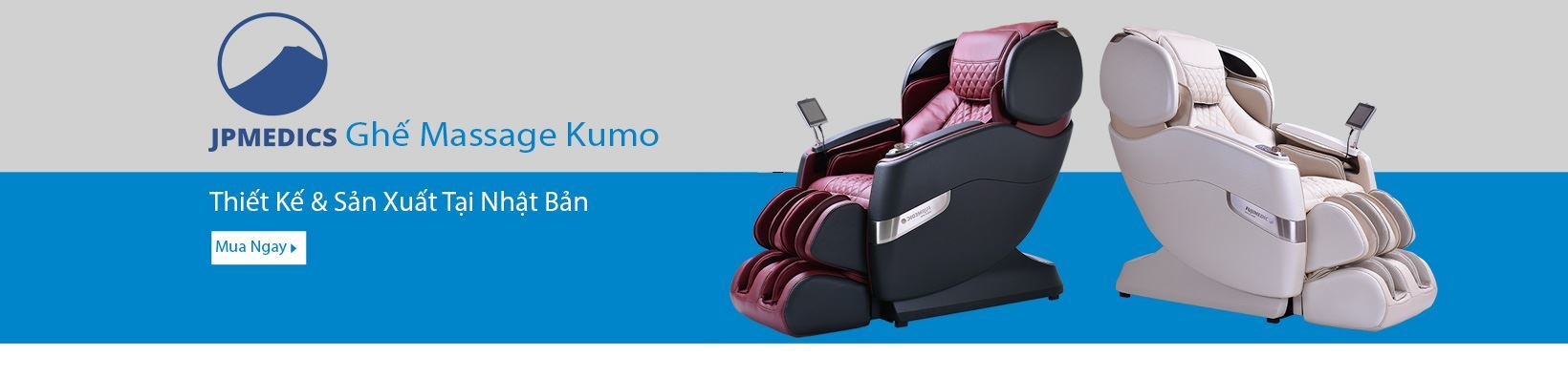 Ghế massage JPMedic Kumo của Nhật Bản