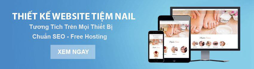Dịch vụ thiết kế website cho tiệm nail và tóc