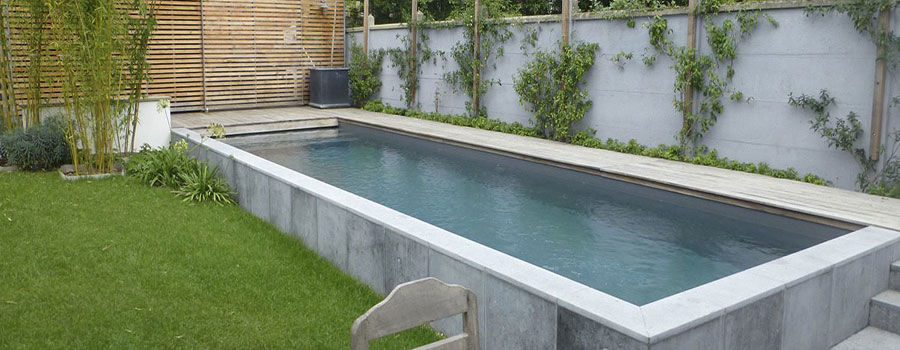 How to build a new pond with concrete