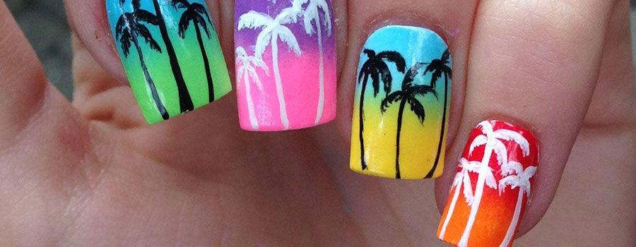 Fluorescent Palm Trees