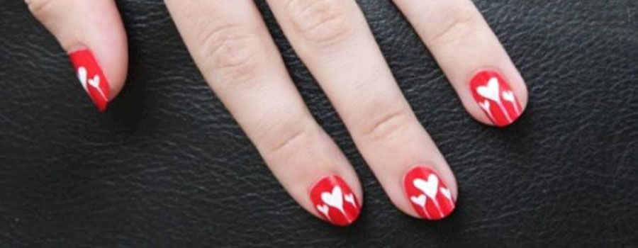 Heart to Heart Nail art