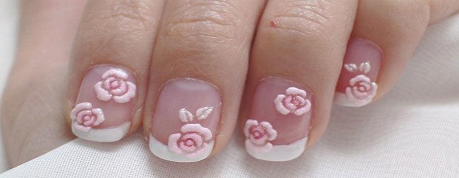 Nghệ thuật vẽ móng hoa hồng