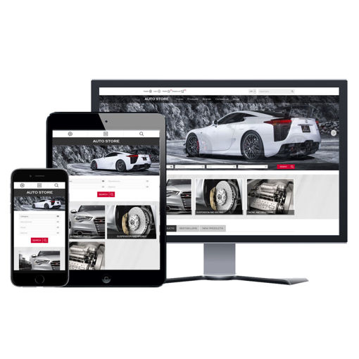 Picture of eCommerce Website - Design #902 Auto Store