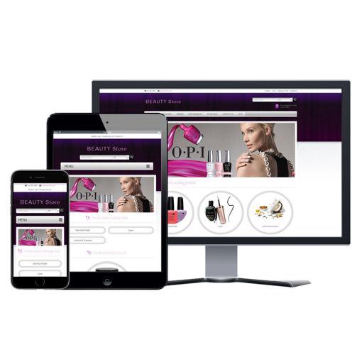 Hình ảnh Website eCommerce - Thiết Kế #904 Beauty Store