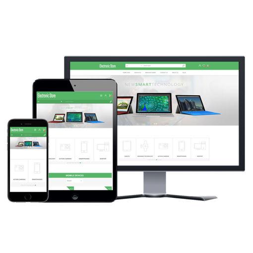 Hình ảnh Website eCommerce - Thiết Kế #906 Electronic Store