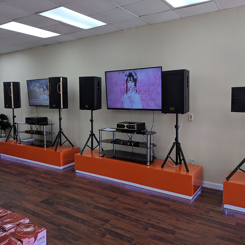 Tittac Garland location showing karaoke systems