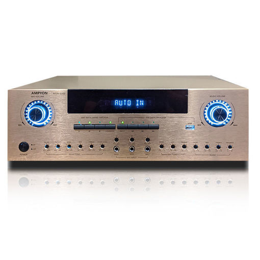 Ampyon MXA-3000 karaoke mixing amplifier, in silver