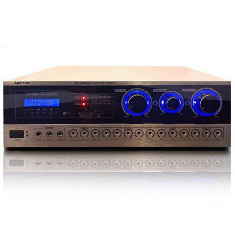 black / silver Ampyon MXA-3000 mixing amplifier