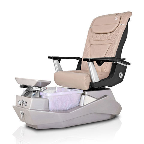 T-Spa Maximus pedicure spa with Khaki T-Timeless massage chair