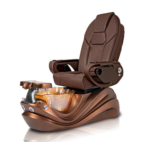 Trianna pedicure spa in bronze base and chocolate Throne massage chair