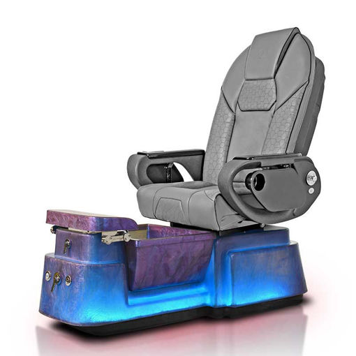 Galaxy pedicure chair with Aurora base and gray Throne