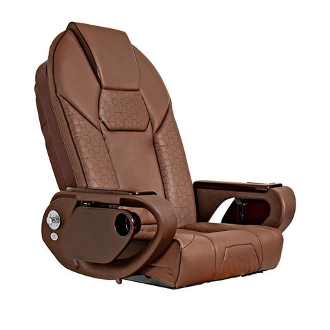 Throne massage chair for pedicure base, chocolate color