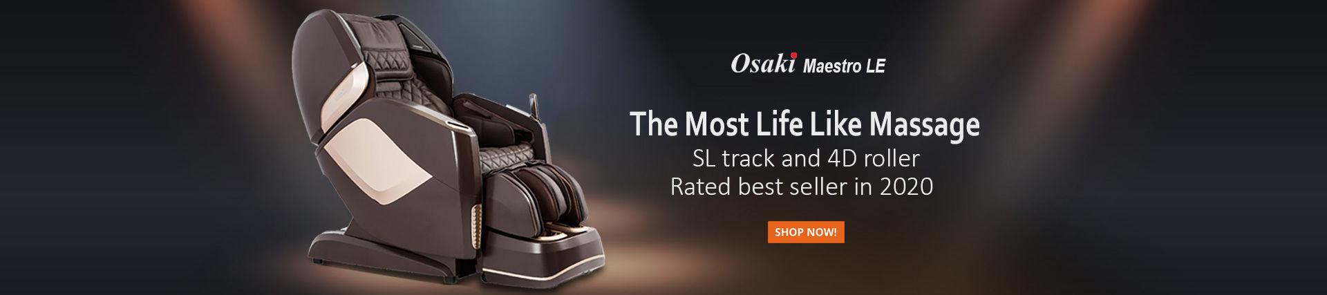 Osaki Pro Maestro LE massage chair banner