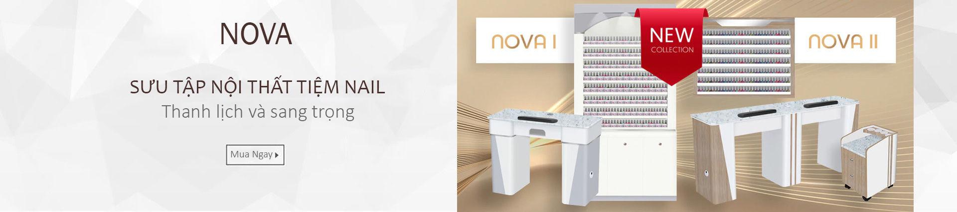 Bộ sưu tập nội thất tiệm nail Nova