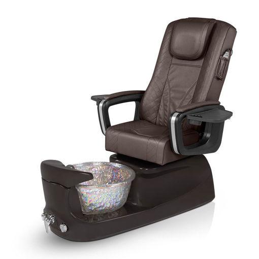 PSD-400 pedicure spa, chocolate base, walnut chair