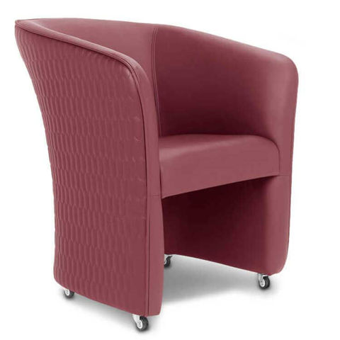 GS9057 ChiQ Quilted Customer Chair Hollyhock color