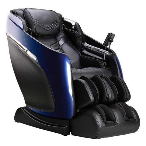 Black and blue Brookstone Mach IX massage chair